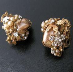 Vintage original By Robert Robert Baroque Pearl Earrings Vintage, antique & vintage jelly jewellery