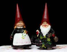 18 cm de altura handmade criativo resina poli garden gnomes figurinhas 2 pcs set em Artesanato em Resina de Casa & jardim no AliExpress.com | Alibaba Group