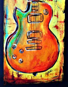 Guitar art from etsy