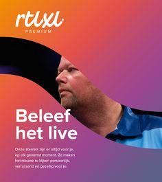RTL XL - beleef het live  Merkstijl: strategisch design bureau Wunder.