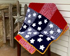 [Free Pattern] Brilliant Way To Crochet A Gorgeous Patchwork Spangled Banner Afghan