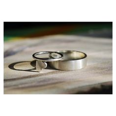 Silver rings, heart