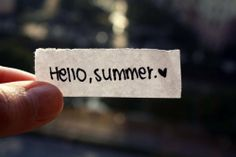 yes, doing this the first day of summerrr!