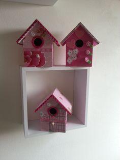 Vogelhuisjes kleur roze