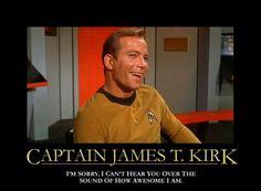 Star Trek : The Ever-Awesome Captain James Tiberius Kirk