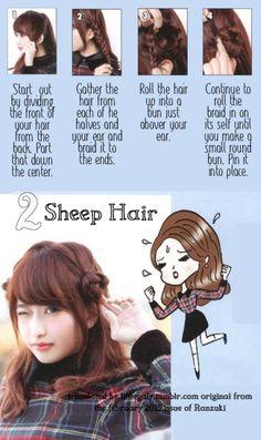 Cute Sheep Hair from littlegaly.tumblr.com