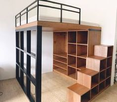 Bedroom Loft Apartment Storage Ideas For 2019 Shelves In Bedroom, Small Room Bedroom, Bedroom Loft, Trendy Bedroom, Bedroom Storage, Small Rooms, Bedroom Apartment, Bedroom Ideas, Loft Beds
