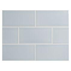 "Complete Tile Collection Vermeere Ceramic Tile - Ice Blue - Gloss, 3"" x 6"" Manhattan Ceramic Subway Tile, MI#: 199-C1-312-841, Color: Ice Blue"