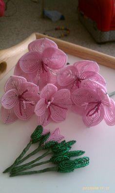 french beaded gladiolus
