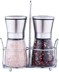 Premium Salt and Pepper Grinder Set of 2 - Salt and Pepper Shakers Mill, Stainless Steel Adjustable Coarseness Great Gift Set - Salt Grinders and Pepper Mill Shaker Mills Set Salt And Pepper Mills, Salt And Pepper Grinders, Life Kitchen, Spice Things Up, Things To Sell, Easy Healthy Recipes, Recipe Box, Kids Meals, Food Photography