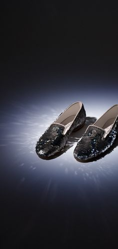Mocassins, sequins-argenté - CHANEL