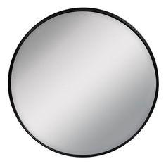 Spegel Hugo i rund modell med ram av metall. Mått: Ø 65 cm, djup 2 cm.