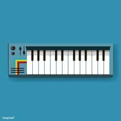 'Digital Electronic Keyboard' by LazyKoala - brianna Keyboard Musical Instrument, Musical Instruments, Free Vector Illustration, Free Illustrations, Retro Typewriter, Color Azul, Motion Design, Vector Design, Free Design