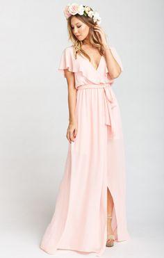 Audrey Maxi Dress ~ Frosty Pink Crisp