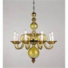 amber+glass+chandelier | amber glass 8 arm chandelier mi5519 8a glass chandelier from czech ...