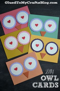 DIY Owl Cards Pinned by www.myowlbarn.com