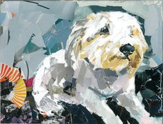 Dog Collage Portrait Patrick by MaritzaHernandezArt on Etsy, $65.00