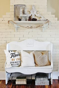 What's That on Your Bench?  Quick and Easy Upcycle!