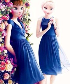 Anna and Elsa #frozen #disney