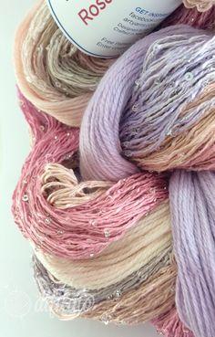 FLORENTINE SHAWL - ArtYarns, seta cachemire merino, perline di murano via difilato. Click on the image to see more!