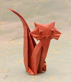 Origami Cat by Roman Diaz folded by Gilad Aharoni