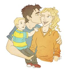 Percabeth family...Why does their child look like a young Jason Grace?