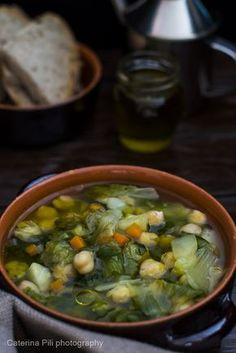 zuppa di scarola e ceci