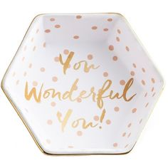 Rosanna Let's Party You Wonderful You! Dish (£11) ❤ liked on Polyvore featuring home, kitchen & dining, serveware, white dish, rosanna dishes, white serveware, white dishes and white tray