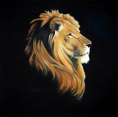 Lion Art Print by The Artist Stacey