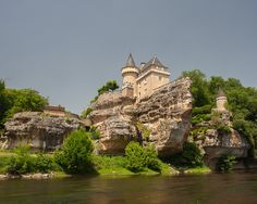 The Chateau de Belcayre on the Vezere river, Perigord, France ~ by Steven House Photography, via Flickr