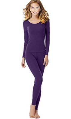 Women's Thermal Underwear Set Top & Bottom Fleece Lined