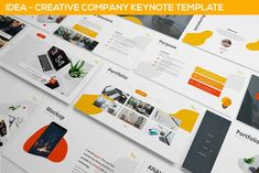 iDea - Creative Company Keynote Template Get it now! an Abstract Modern Keynote Theme for your Business presentation, suitable for anykind purpose especially Presentation Design Template, Business Presentation, Layout Template, Keynote Template, Design Templates, Corporate Brochure, Business Brochure, Business Card Logo, Creative Powerpoint Templates