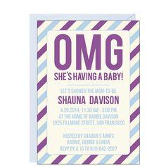 OMG baby shower invitations