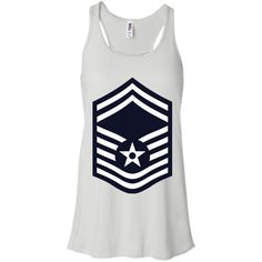 Air Force Senior Master Sergeant Rank -01 Bella+Canvas Flowy Racerback Tank