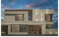 Modern home by sarah sadeq architects New House Plans, Modern House Plans, Modern Exterior, Exterior Design, Villa Design, House Design, Double Story House, House Entrance, Main Entrance