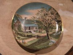Four seasons ; SPRING.   We have a collection of four plates reproduced from original works by the world famous craftsman; Currier and Ives. (Bond International 1986).