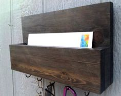 The Essie Mail and Key Rack with Optional Top Shelf by CedarOaks