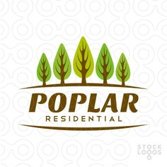 logo shows a group of poplar trees logo can be used for various businesses