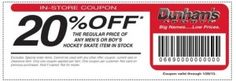 Dunham's 20% off coupon.