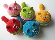 """El tejido es dedicado a los gatos! Toy """"Cat-Antiestrés"""". Comentarios: Los diarios de la CP"""