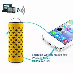 NFC Wireless Stereo Bluetooth 4.0 Speaker Three Proofings IPX4 Subwoofer with Flashlight MIC for iPhone Samsung Notebook Tablet