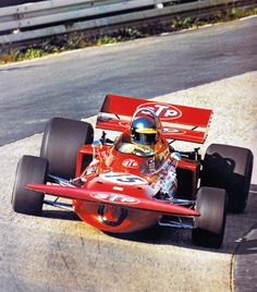 Ronnie Peterson, March, at the Nürburgring.