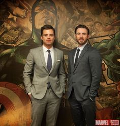 Captain America: The Winter Soldier's Chris Evans and Sebastian Stan visit Marvel HQ