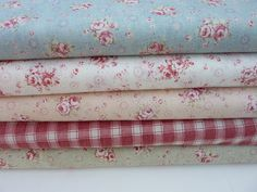 Durham Quilt fabric bundle 4 colors with maroon by TokyoFabric, $39.95