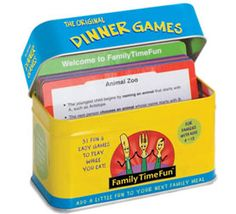 Love this game - great ways to help your kids eat and chat at dinner!