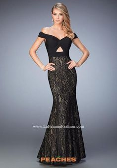 Shop La Femme evening gowns and prom dresses at Simply Dresses. Designer prom gowns, celebrity dresses, graduation and homecoming party dresses. Black Mermaid Dress, Mermaid Gown Prom, Lace Mermaid, Pretty Prom Dresses, Prom Dresses 2016, Prom 2016, Formal Dresses, Dresser, Lace Evening Gowns