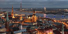 This Riga stag do package includes 2 nights 3 star hotel, breakfast, guided bar and night club tour and lap dancing club entry. Riga stag do weekend ideas by DesignaVenture. Cheap European Cities, Cities In Europe, Places To Travel, Places To See, Travel Destinations, European City Breaks, Riga Latvia, Voyage Europe, Beautiful Architecture