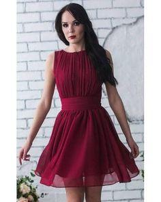 short cranberry bridesmaid dresses - Google Search