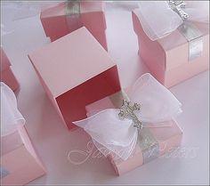 Girls Baptism Or Communion Favor Boxes por JaclynPetersDesigns