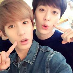 Minwoo and Donghyun, I admire their friendship ~ No Min Woo Boyfriend, Boyfriend Kpop, Jo Youngmin, I Miss U, How To Have Twins, Starship Entertainment, Seong, Boy Bands, Boy Groups